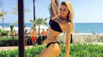 Evangelina Anderson lució sus curvas en Marbella