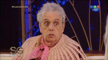 Inédito: Gasalla se saca la peluca de la abuela con Susana Giménez