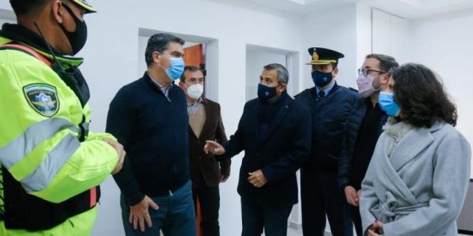 El Gobierno inauguró refacciones del destacamento de policía caminera entre Isla del Cerrito y Antequeras