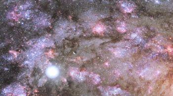 Sparky, el turbulento sitio de construcción de una galaxia enorme