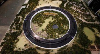 """Así se ve desde el aire la """"nave espacial"""" de Apple"""