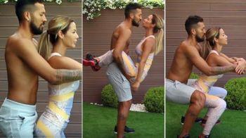 El entrenamiento hot entre Tamara Gorro y Ezequiel Garay