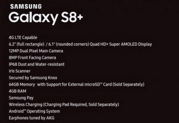 Se filtran todas las características del Samsung Galaxy S8+