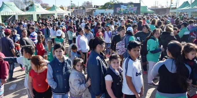 Más de un millar de vecinos en el festejo del Día Del Niño del Gobierno Provincial