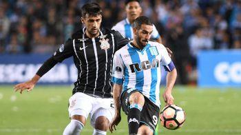 Racing empató con Corinthians y  pasó a cuartos de final de la Sudamericana