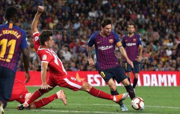 La Liga de España: Messi llegó a otro récord, pero Barcelona empató con Girona