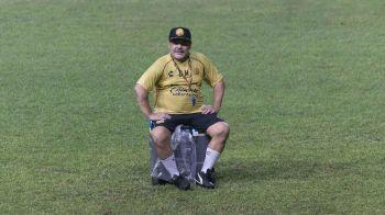 Preocupante estado físico de Diego Maradona