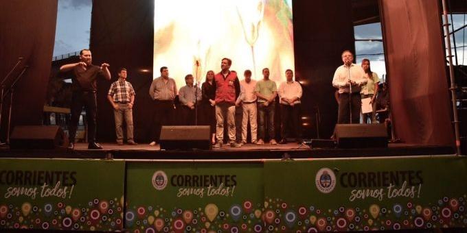 Tassano entregó la llave de la Ciudad al presidente de la Cruz Roja Argentina