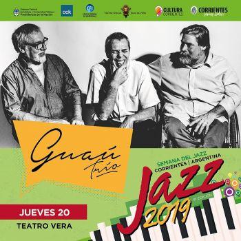 Concierto de La NEA Big Band, Sopa de Pato y Guaú Trío en el teatro Vera