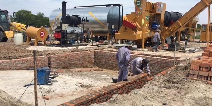 La planta de asfalto caliente está en su etapa final de puesta en funcionamiento