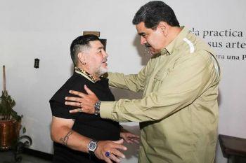 """Diego Maradona visitó a Maduro y le llevó su """"apoyo político"""""""