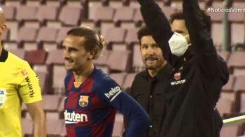 Escrachan la increíble reacción de Simeone con Griezmann en el duelo entre Barcelona y Atlético