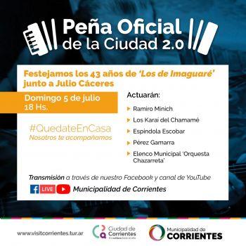 En la Peña Oficial de la Ciudad se festejará los 43 años de Los de Imaguaré