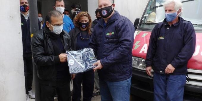 Cardozo reconoció a los trabajadores del 107 en la lucha para combatir al Covid-19