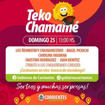 Nuevo fin de semana a pleno con Corrientes Cumbia Virtual y Teko Chamamé