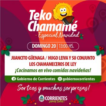 Otro fin de semana a pleno con Corrientes Cumbia Virtual y Teko Chamamé especiales navidad