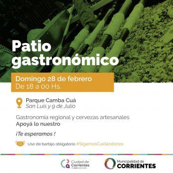 El Patio Gastronómico cierra el mes de febrero en el parque Cambá Cuá