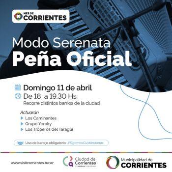 Este domingo, la Peña Oficial recorrerá los barrios de la ciudad en forma de serenata