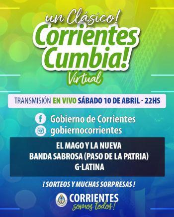 El Corrientes Cumbia Virtual y el Teko Chamamé proponen pasar un finde con buena música