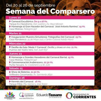 La Municipalidad organiza variadas actividades para celebrar la Semana del Comparsero